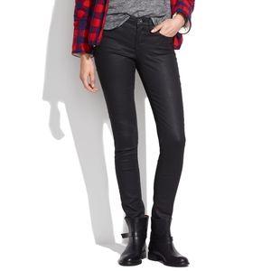 """Madewell black coated 9"""" high rise skinny jeans 26"""